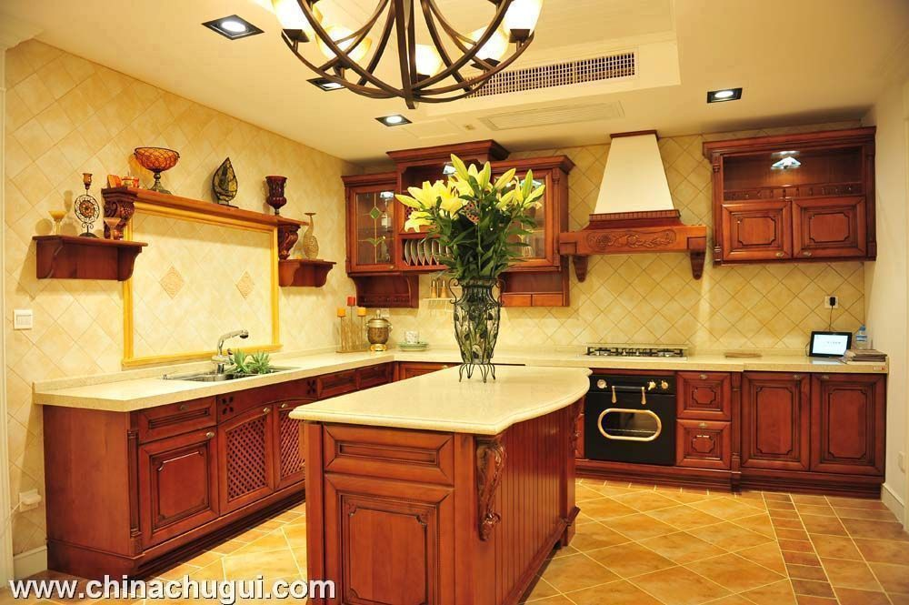 上海宇邦 整体厨房橱柜 樱桃木(不带台面)欧式风格