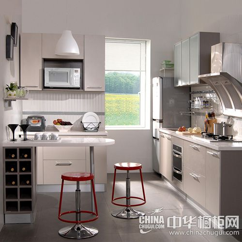印象麻纹-浅灰-G-home桔家橱柜整体厨柜