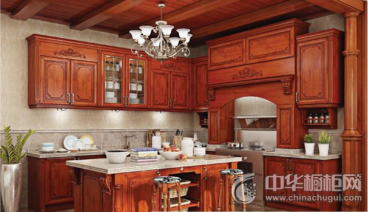 優格集成灶效果圖 島型櫥柜古典風格櫥柜圖片