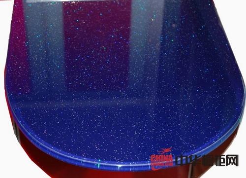 北京宜然防爆玻璃台面-橱柜台面-蓝色防爆玻璃台面