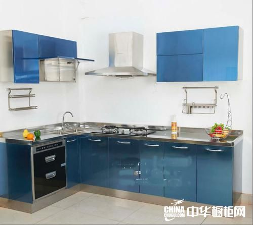 金盛通不锈钢橱柜-彩色不锈钢整体橱柜-经典宝石蓝