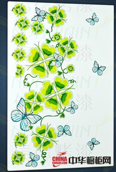 信德烤漆橱柜-艺术印花门板-暗香