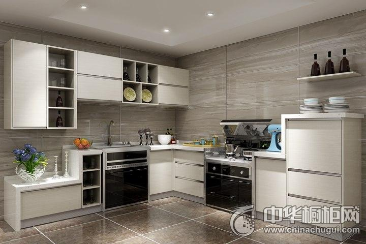 至厨集成灶效果图 白色简约风格橱柜图片