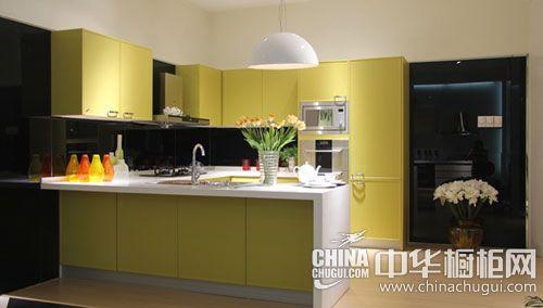 西泊橱柜-整体橱柜-时尚黄色