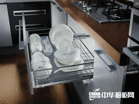 欧派橱柜-拉篮-三边碗盘拉篮