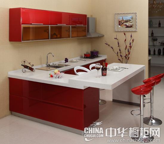 红色整体橱柜效果图