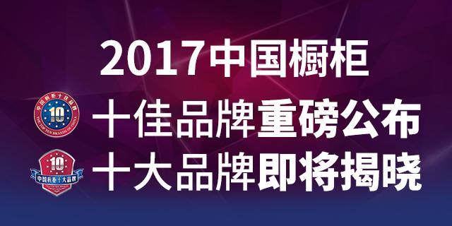 2017年中国橱柜十佳品牌荣耀公布