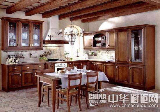 金超橱柜-实木厨柜-田园风格