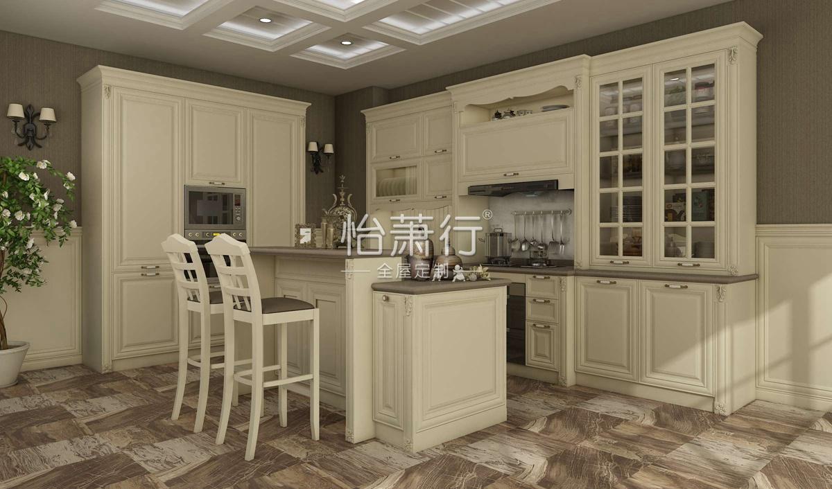 拉德芳斯厨房效果图 17�O将古典建筑的艺术融于生活