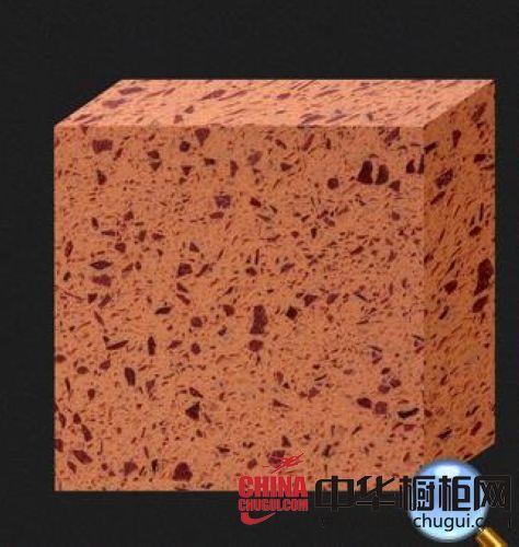 宝丽雅人造石-挪威橙黄石英石整体橱柜台面