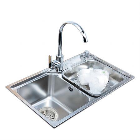 中德厨卫-抗菌不锈钢水槽-73435HA