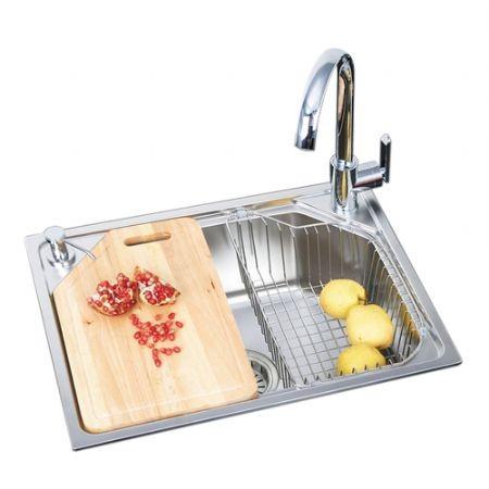 中德厨卫-抗菌不锈钢水槽-60450HA