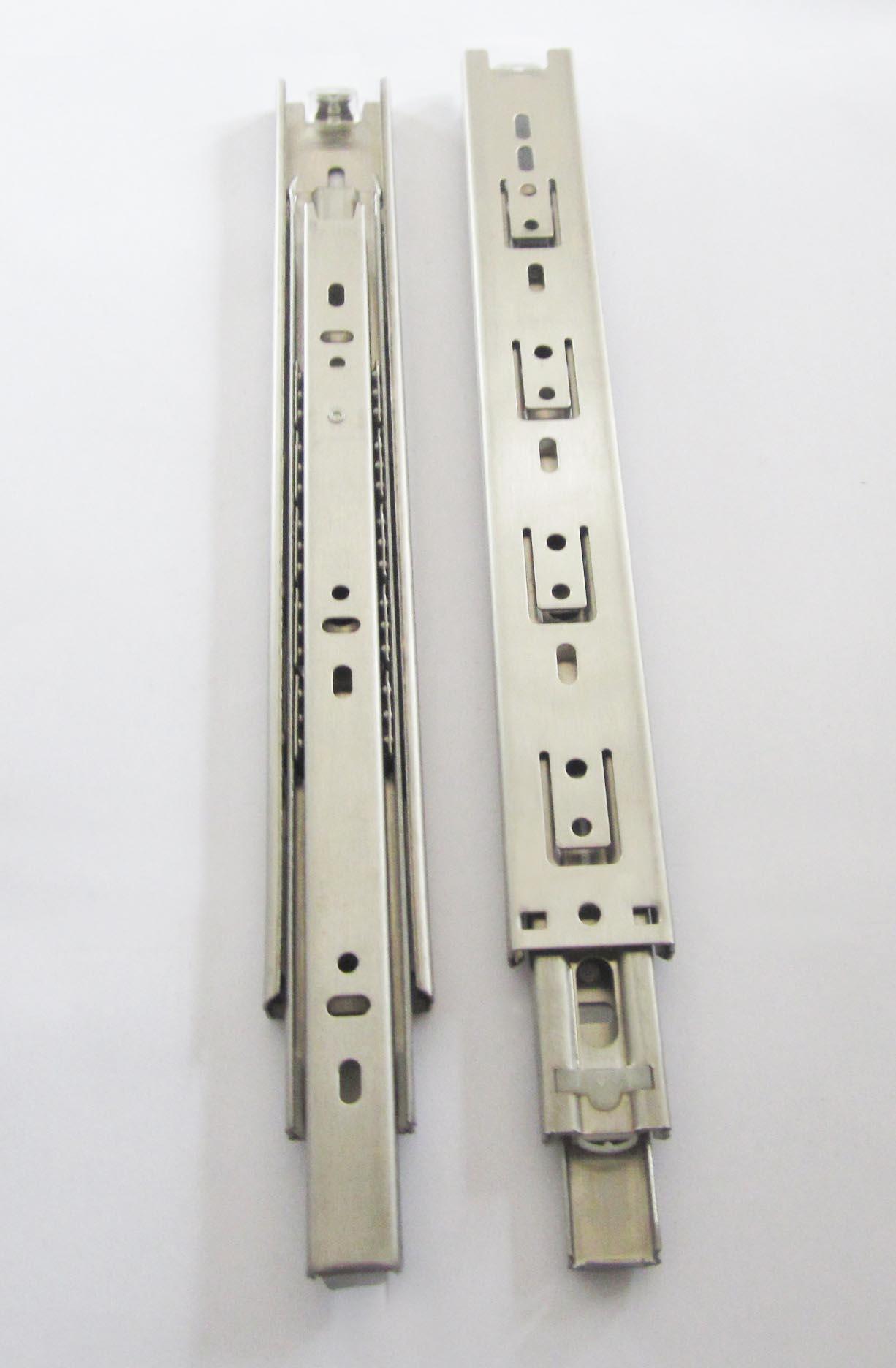佛山润徽公司-不锈钢家具钢珠导轨35宽三节不锈钢滑轨