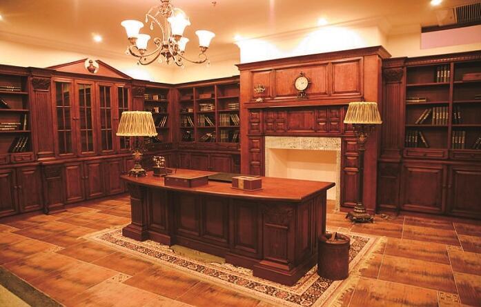 帝金御橱柜-全实木书柜