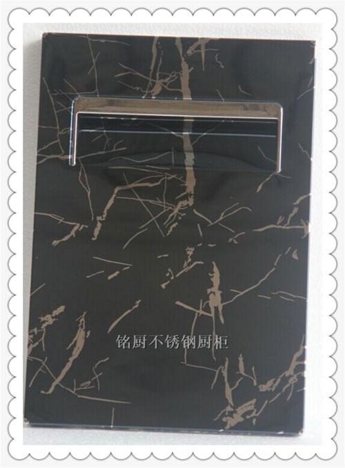 铭厨橱柜-橱柜门板-MC11-19黑大理石纹