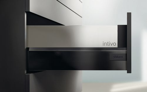 贝家尔厨柜-功能配件-百隆特拉黑高抽屉配玻璃插板
