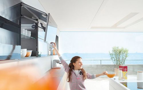 贝家尔厨柜-功能配件-百隆上翻折叠门