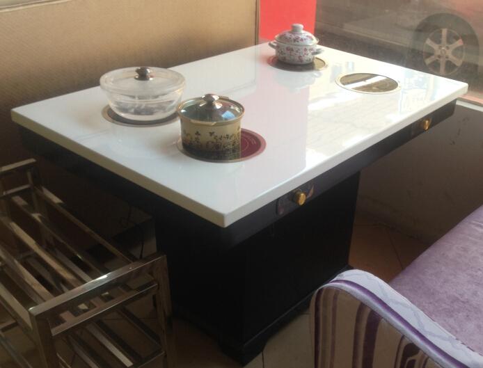斯英克电器-全国定做火锅店餐桌椅 电磁炉火锅桌