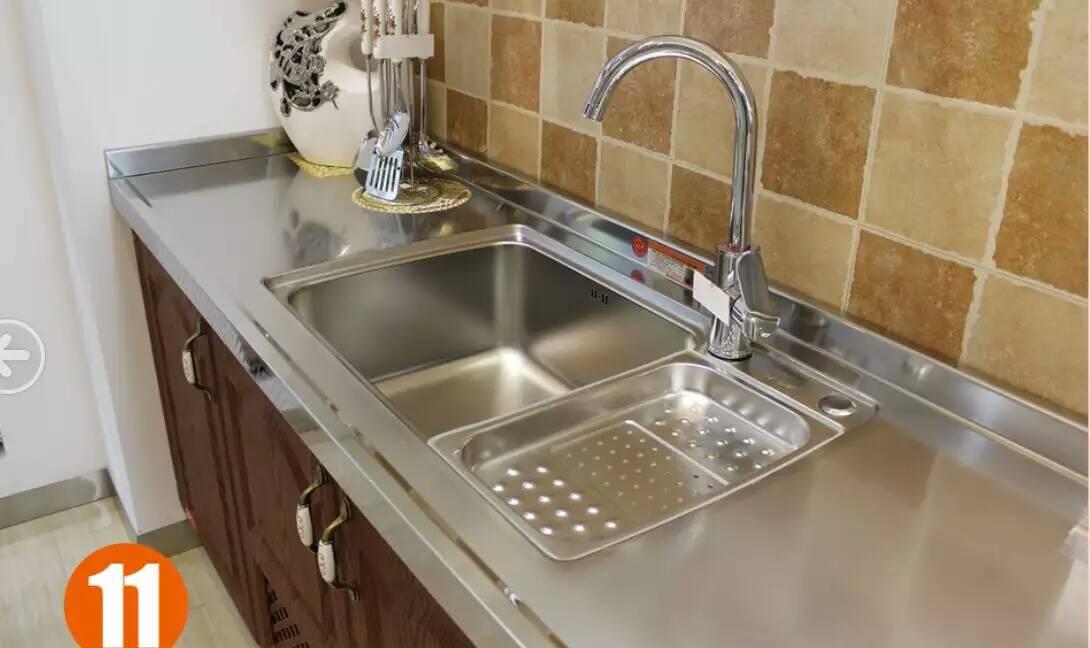 博大爱家不锈钢厨柜-304不锈钢台面