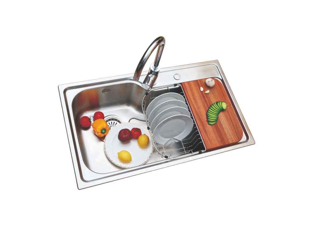 康宝厨柜-橱柜五金-高级不锈钢水盆 XP0006