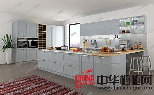 科嘉橱衣柜-吸塑系列整体橱柜GD11纯洁白色