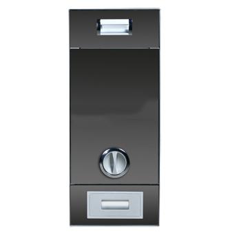 斯洛国际五金-嵌入式旋扭式豪华镜面米箱(黑色)
